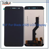 For ZTE Blade A520 Touch Screen+LCD Display Screen Digitizer Smartphone Replacement Black 5 Inch For ZTE Blade A520 LCD Display