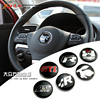 Steering Wheel Caps GTI R Car Emblem Decal Sticker 45mm for VW Volkswagen B5 B6 polo Jetta MK4 MK5 CC Passat Golf 6 7 Scirocco