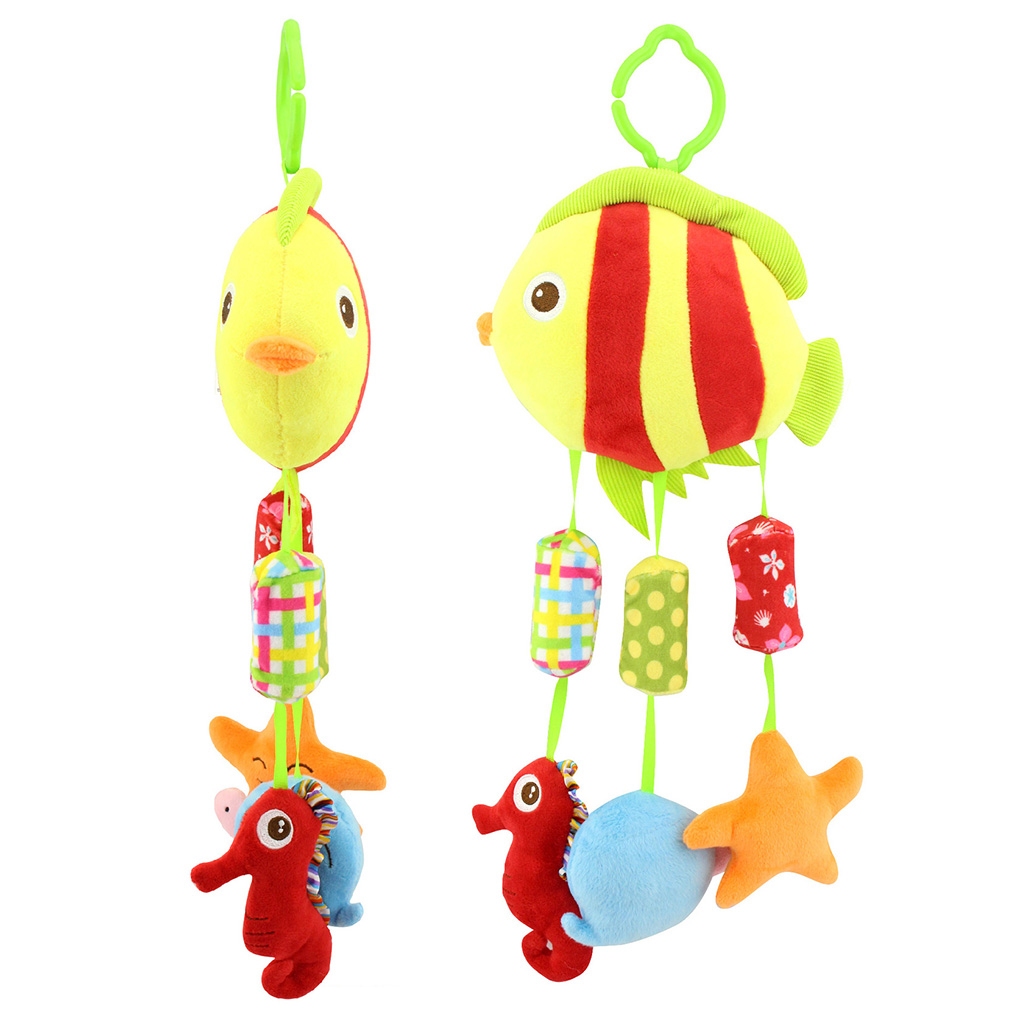 Cute Baby Rattles Toy Animal Handbell Ring Bell Crib Hanging Toys For Newborn Children 0-24 Months Baby Bed Stroller Hanging