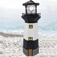 1x Lighthouse Lamp Solar Powered Decorative Light for Yard Path Lawn Garden Patio Decoration