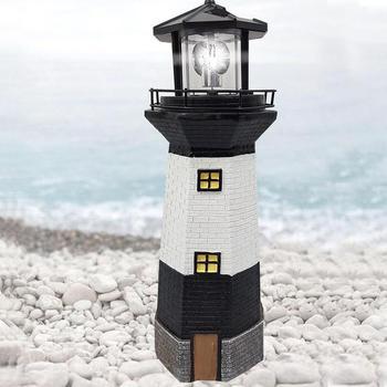 1x Vuurtoren Lamp Zonne-energie Decoratieve Licht voor Yard Path Lawn Tuin Patio Decoratie