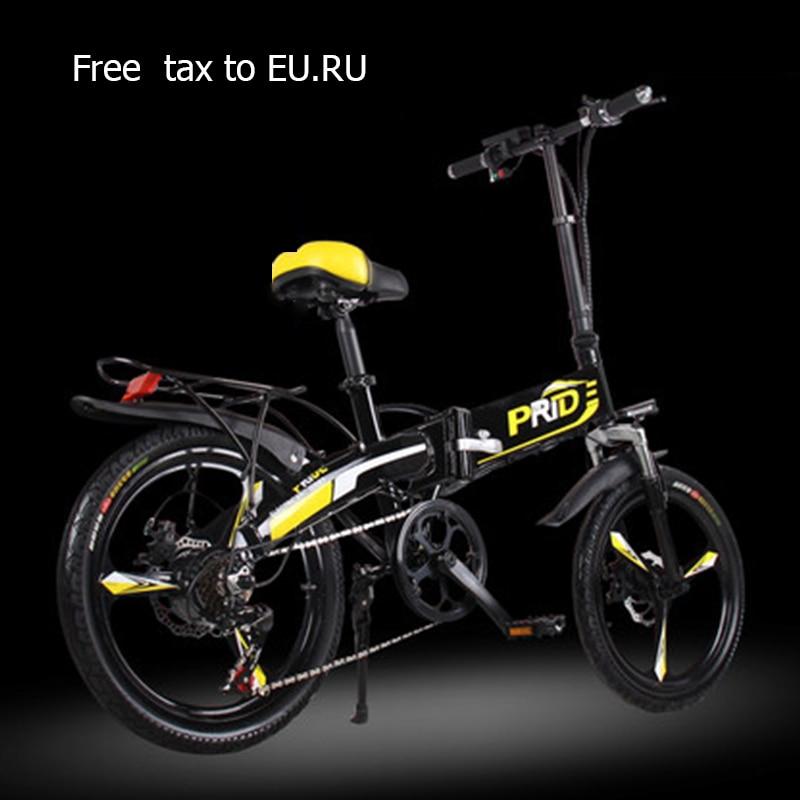 Electric Bike 20inch Aluminum Folding Bike 48v12.5a Battery Electric Bicycle 350w Powerful Motor Mountain E Bike Snow/city Ebike