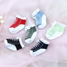 Носки для малышей 0-12 месяцев, спортивные кружевные детские носки, хлопковые детские носки