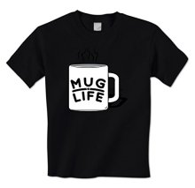 Funny Coffee Tea Mug Drinking t-shirt Mug Life – Mens T-Shirt