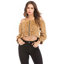 womens jackets and coats  jaket women streetwear woman jacket slash neck slim clothes full sleeve outwear coat