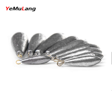 YeMuLang 1piece Water-drop Design Ocean Boat Fishing Lead Sinkers Plummet For Fishing Tackle