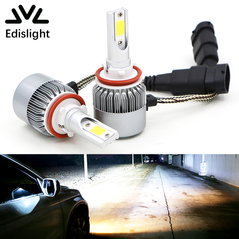 Inventive Vodool 2pcs H11 50w Zes Chips Led Car Headlight Bulbs Auto Headlamp Led H4 H7 9005 9006 Hi-lo Beam 6500k Car Lights Accessories Car Headlight Bulbs(led) Automobiles & Motorcycles