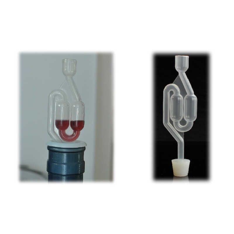 Válvula de verificação da fermentação da cerveja do vinho da cerveja da cerveja do vinho do fechamento do ar do produto comestível plástico de uma maneira válvula de verificação da exaustão