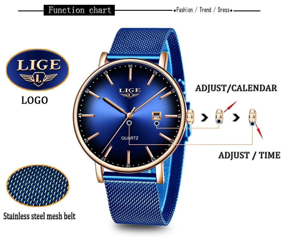 HTB1604VdMmH3KVjSZKzq6z2OXXaG LIGE Fashion Mens Watches Top Brand Luxury Blue Waterproof Watches Ultra Thin Date Simple Casual Quartz Watch Men Sports Clock