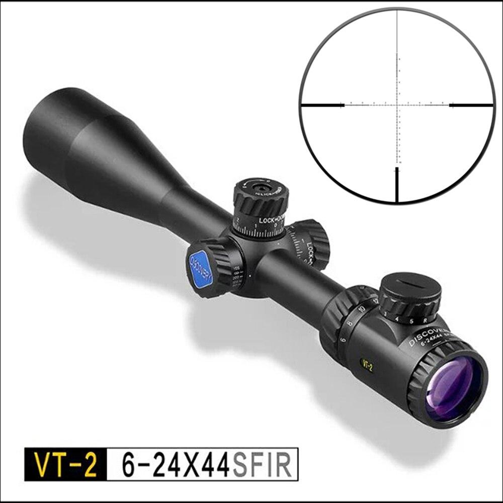 Descobrir optical rifle scope VT-2 6-24X44SFIR foco lado rifle de ar ao ar livre táticas de caça vista vermelho e verde iluminação cruz