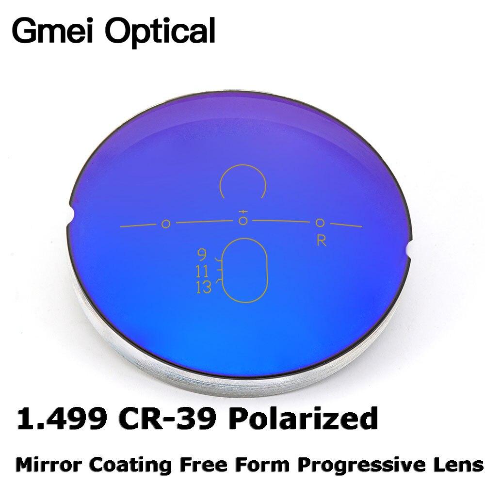 acd8ef7c6 Gmei Óptico 1.499 de Revestimento de Espelho Polarizado CR-39 Digital Forma  Livre Lente Progressiva Óculos de Prescrição De Lentes Ópticas