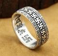 Handmade 925 Silver OM Mantra Ring Tibetan OM Ring Wanzi Ring