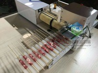 By Fast Shipping ! Full Automatic Meat Wear mutton string machine Business Bbq Skewer machine Meat String machine