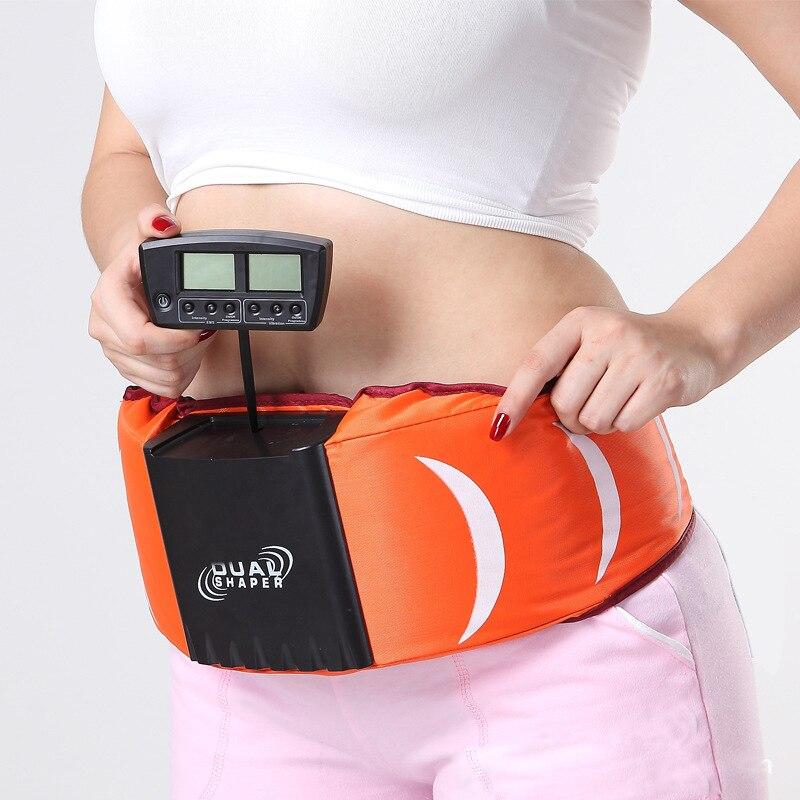Hot sale slender shaper Dual GYM Ab slimming vibration vibrating massager belt anti cellulite fat burner machine