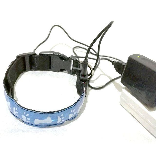 fd60 hond kraag led lichtgevende halsbanden verlichte halsbanden usb rechagerable gratis verzending