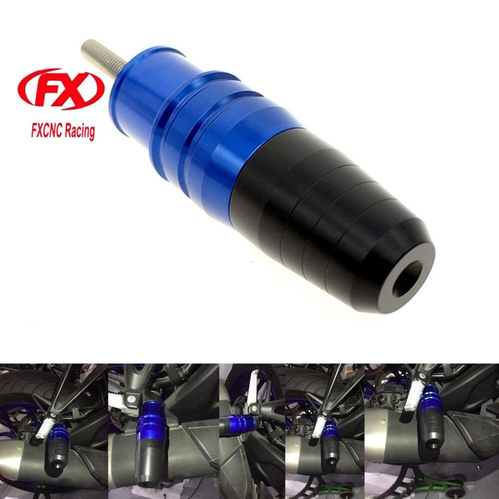 FX CNC Motorcycle Frame Exhaust Slider Crash Pad Body Protector For Kawasaki Z1000 2006-2014 Z800 2012-2014 NINJA 250 NINJA300