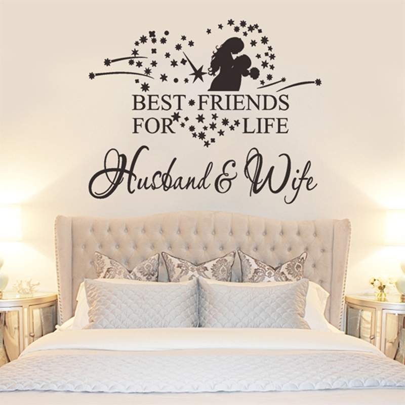 Star Heart Hug Couples Vinyl Romantic Wall Stickers Bedroom Wall Art  Decoration Wall Heart Quotes Home Decor Stickers Posters In Wall Stickers  From Home