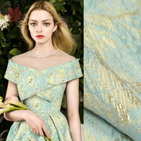 France style luxury floral jacquard brocade fabric for dress cloth tissue for sewing tela tejido FREE SHIPPING SP3666