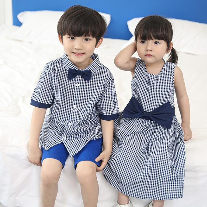 HTB1605IP4naK1RjSZFBq6AW7VXa6 - Family Matching Outfits Summer Fashion Plaid Shirt Outfits Mother And Daughter Dresses Father Son Baby Boy Girl Clothes