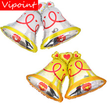 VIPOINT PARTY 98x72cm white yellow bell foil balloons wedding event christmas halloween festival birthday party HY-226