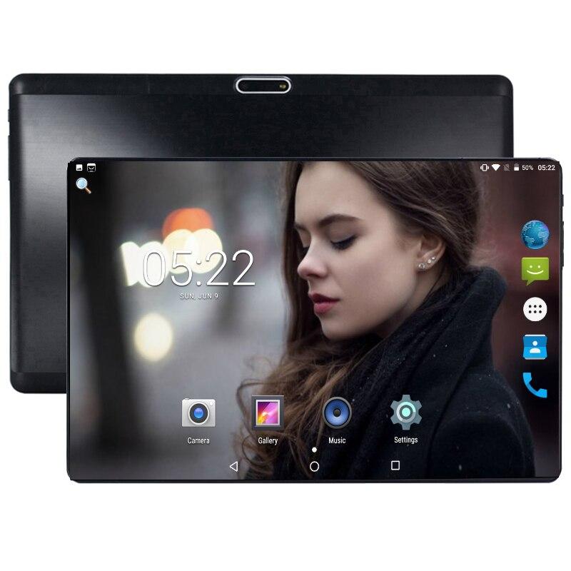 2019 livraison rapide 10 pouces 4G LTE tablette PC 6GB RAM 64GB ROM 1280*800 IPS 2.5D verre trempé 10.1 tablettes GPS Android 9.0 + cadeaux