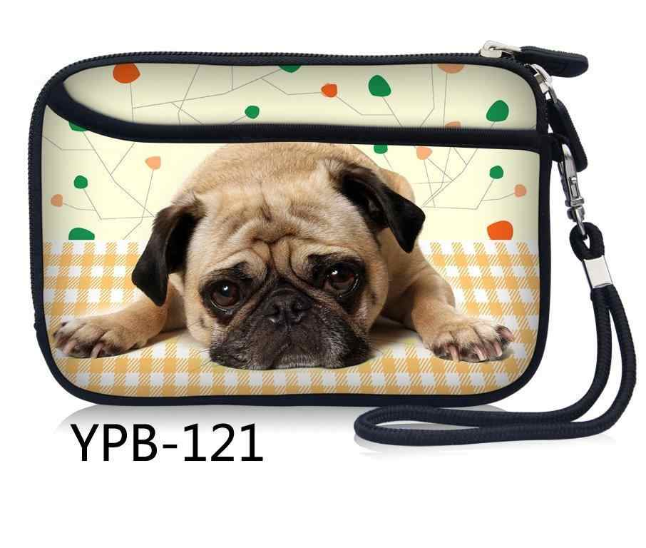 Pug Hond Draagbare Rits Externe 2.5 inch HDD Bag Case Pouch Professionele voor Bescherming Standaard GPS Harde Schijf Apparaat