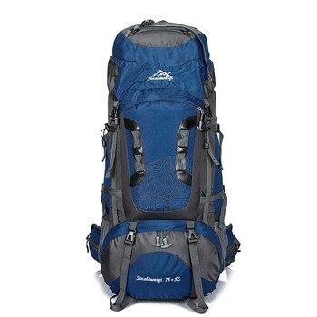 Outdoor 80L Large Backpack Waterproof Unisex Nylon Travel Bags Camping Hiking Climbing Backpacks Waterproof Rucksack Sport bag