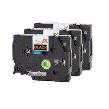 3 шт. 12 мм кассета ленты TZ совместимы TZe334 TZe 334 TZ334 TZ 334 P touch ламинирования лента для Brother принтер этикеток