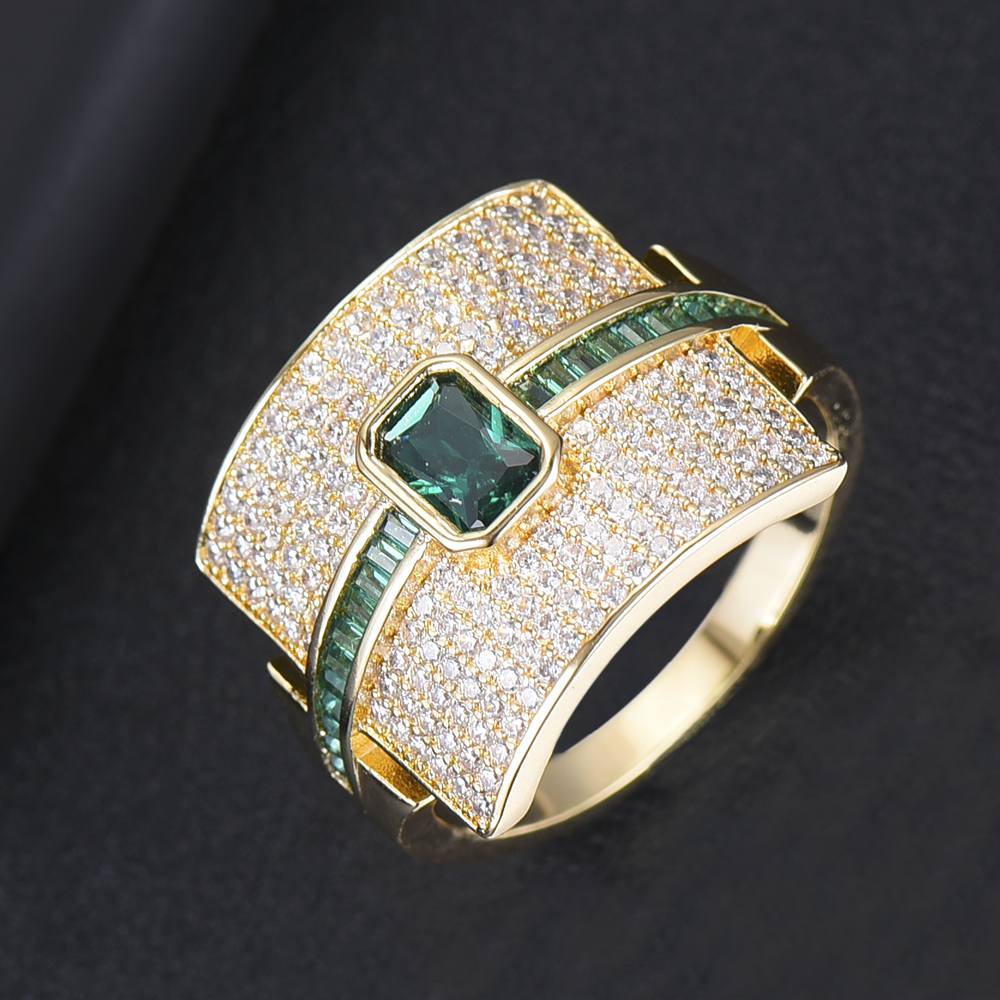 Image 3 - GODKI Luxury Geometry Statement Stackable Rings For Women Wedding Cubic Zircon Engagement Dubai Gold Bridal Choker Finger Rings-in Wedding Bands from Jewelry & Accessories