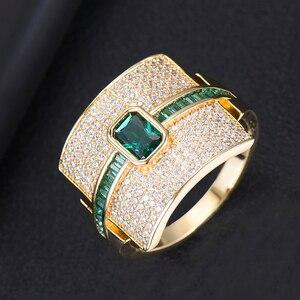 Image 3 - GODKI יוקרה הצהרת גיאומטריה Stackable טבעות לנשים חתונה מעוקב זירקון אירוסין דובאי זהב כלה קולר אצבע טבעות