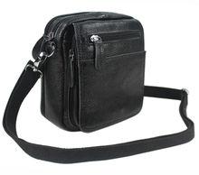 แฟชั่น100%ธรรมชาติหนังแท้ผู้ชายของmessengerกระเป๋าหนังกระเป๋าสะพายสำหรับผู้ชายC Rossbodyกระเป๋าขนาดเล็กถุงสบายๆสีดำ
