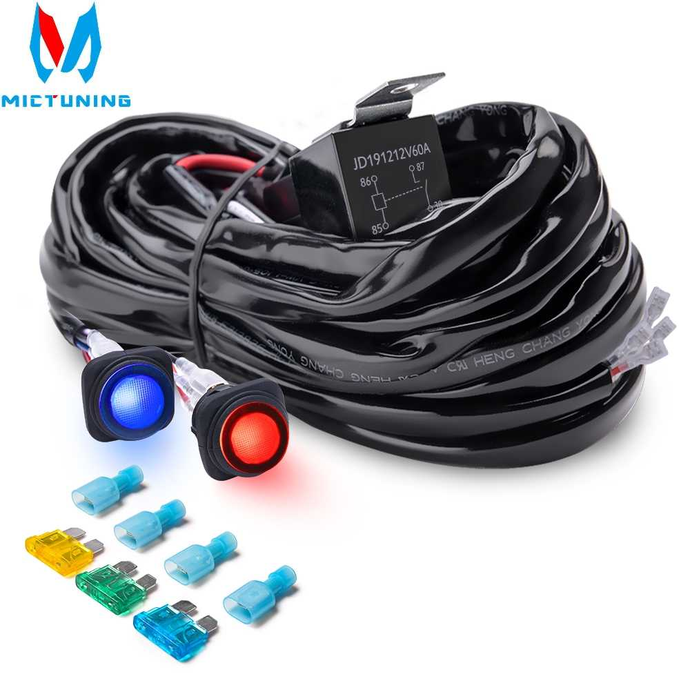 Mictuning Powered 3 To 2 Wire Trailer Tail Light Converter For 12v Vehicle With Color Coded