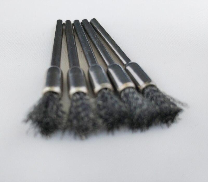 5pcs Steel Wire Wheel dremel wire Brush deburring for Dremel rotary tools Wheel burr abrasive head dremel accessories Pen-shape  цены