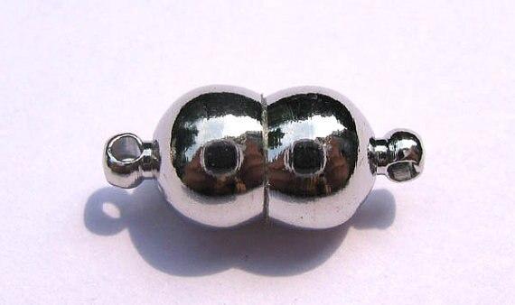 Haute qualité 50 pcs 6x10mm laiton fermoir magique connecteurs laiton fermoirs magnétiques barre ronde tambour gunmetal antique argent bijoux clas