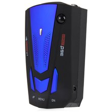 Blue/Red V7 Car Radar Detector 360 Degree 16 Band Scanning LED Display Auto Detectors English/ Russian Voice Alert Warning