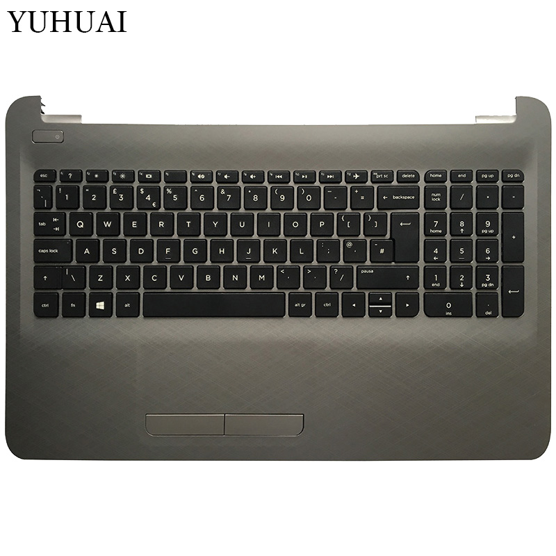 UK Laptop Keyboard For HP 250 G5 255 G5 256 G5 15-BA 15-AY TPN-C125 TPN-C126 HQ-TRE With Touchpad Palmrest Upper Cover