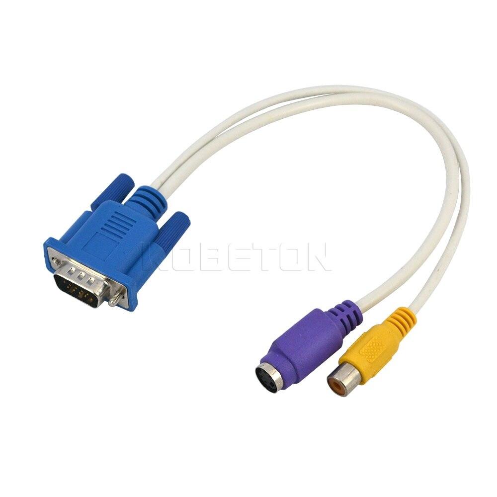 popular vga av rca s video buy cheap vga av rca s video lots from 100pcs 30cm 1ft vga to rca s video s video cable adapter converter 15 pin