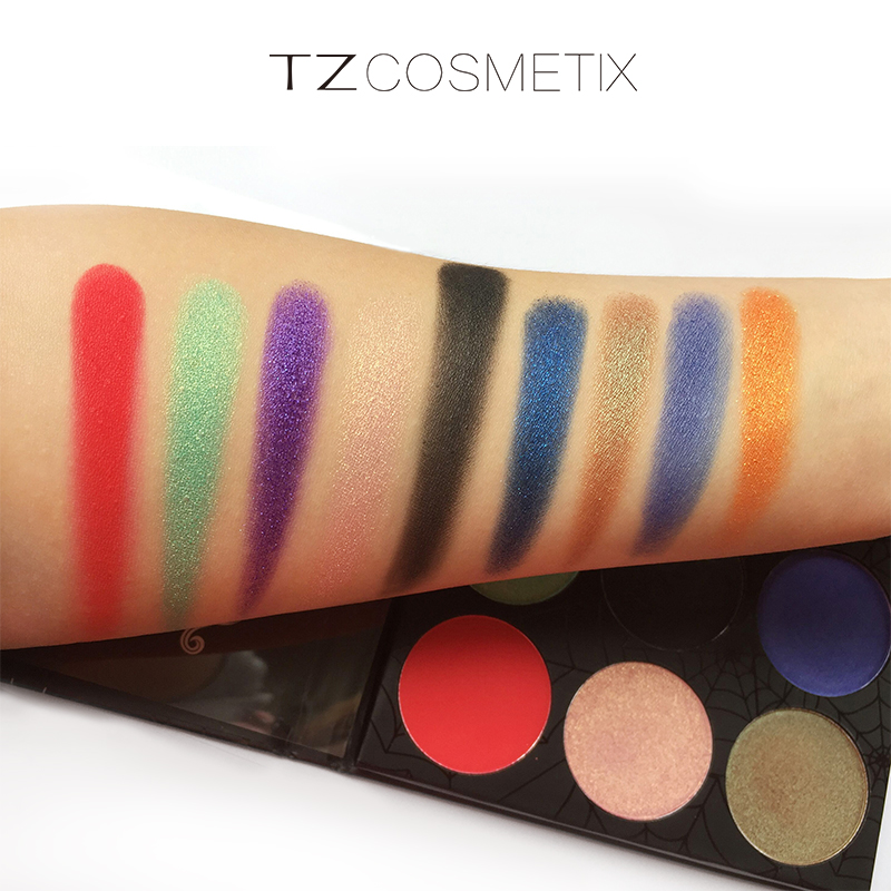 TZ Brand 9Colors Eyeshadow Palette Matte Diamond Glitter Foiled Eye Shadow in One Palette Blush Makeup Set for Beauty 1
