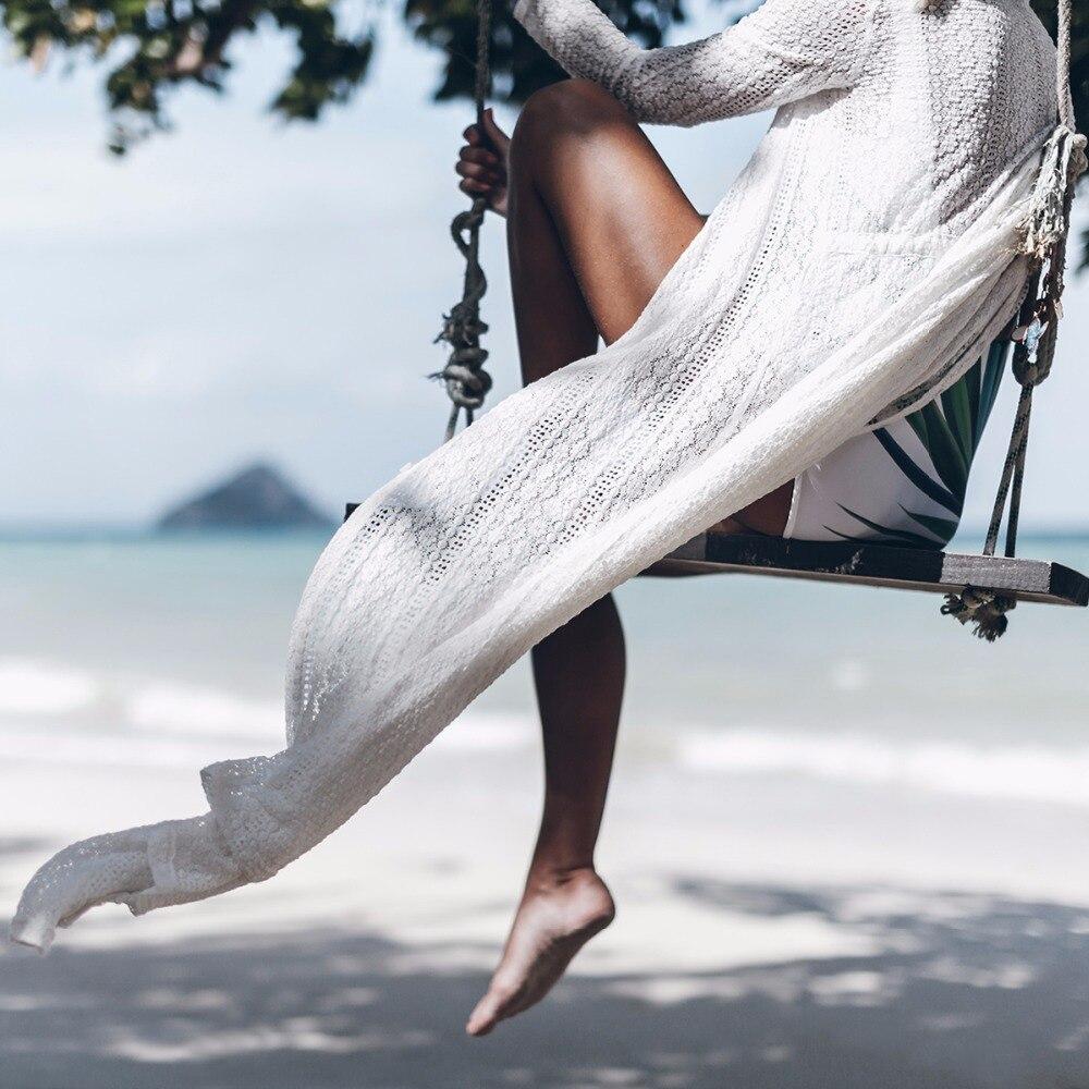 f036735e2 Aliexpress.com : Buy 2017 Summer White Beach Long Kimono Sexy Cover Up Lace  Patchwork Bikini Swimwear Tunic Swimsuit Bathing Suit Cover Ups Pareo from  ...