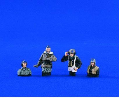 1/35 Resin Figure German Tank Soldier 4pc/set Model Kits