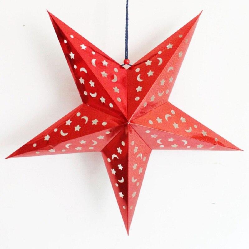 kerst papier ster handleiding kerstster boom decoraties ...