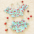 2pcs/Set Children Swimwear Tankinis Set Baby Girls Bikini Cute Swimwear Split Preschool Newborn Kids Swimsuit Bathing Suit