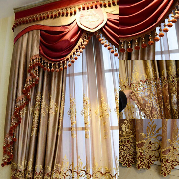 2016 fashion new design luxury window elegant valance - Latest curtain design for living room ...