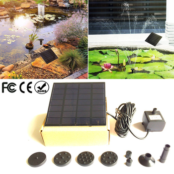 Solar Power Floating Fountain Water Pump for Garden Pond Pool Fish Tank Landscape Pool Garden Solar Power Decorative Fountain 7v solar powered fountain water pump connect tube with nozzles solar birdbath fountain pump for garden waterfalls pond fish tank