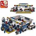 Kits de edificio modelo compatible con lego ciudad coche de fórmula 716 bloques 3D aficiones modelo Educativo y juguetes de construcción para los niños