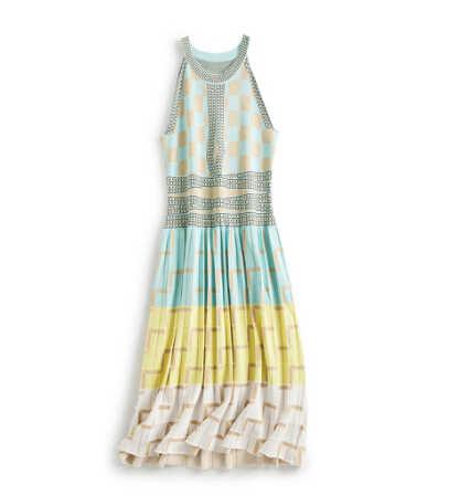 2019 חדש באיכות גבוהה קיץ שרוולים גיאומטריה סרוג שמלת נשים Slim חג שמלות Vestidos