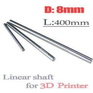 2 шт./лот, запчасти для 3D-принтера, стержень 8 мм, линейный вал L 400 мм, длинный хромированный линейный направляющий рельс, круглый стержень, вал...