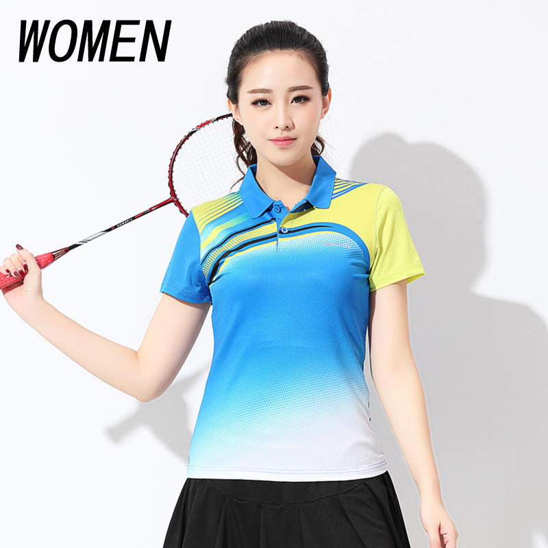 Free shipping new womens badminton wear T-shirts sports wear womens summer tennis Shirt Short Sleeved Shirt