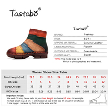 Tastabo Hot Sale Shoe Martin Boots Genuine Leather Ankle Shoes Vintage Casual Shoes Brand Design Retro Handmade Women Boots