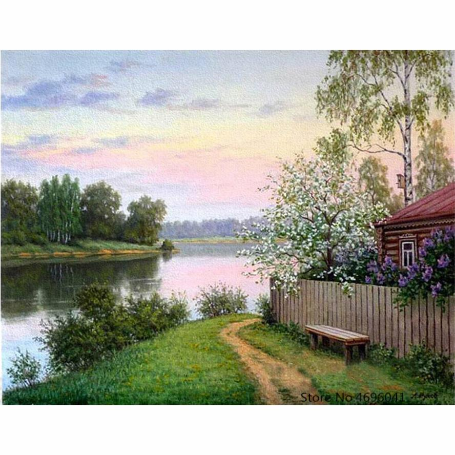Painting By Numbers Frameworks Coloring By Numbers Pictures Home Decor Canvas Painting By Numbers Decorations RSB8181(China)